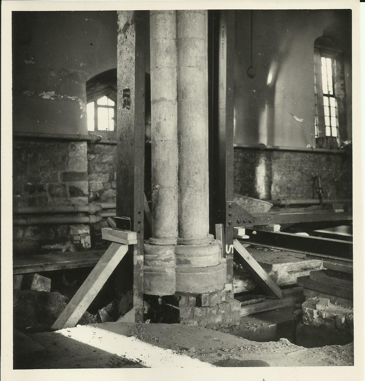 Pillar nearest the bricked in Leper Door in the background